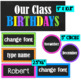 Birthday Neon  ~ Editable