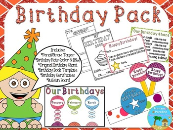 Birthday Pack: Editable: Low Prep Birthday Fun!