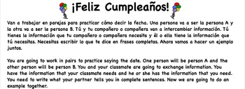 Birthday Partner Activity