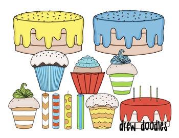 Birthday Party Digital Clip Art Set