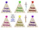 Birthday Party Hat Pencil Toppers