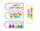 Birthday Pencil tags