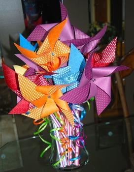 Birthday Pixie Stix Pinwheels (set of 12)-TEMPORARILY UNAVAILABLE