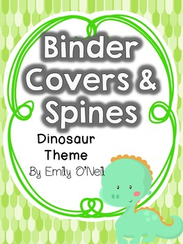 Binder Covers (Dinosaur Theme)