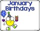 Free Downloads - Monthly Birthday Posters for the Classroom