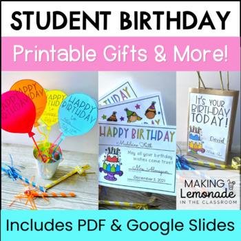 Birthday Printables, Cards, Activities, Classroom Decor, a