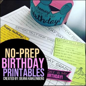 Birthday Printables {No Prep}