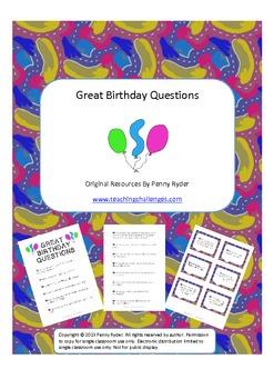 Birthday Questions