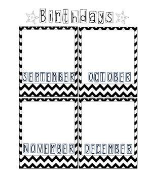 Birthday Record Sheet