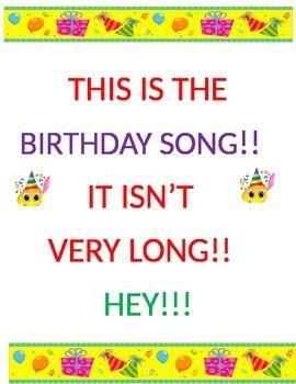 Birthday Song Short Version