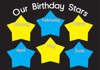 Birthday Star chart