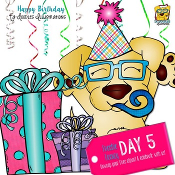 Birthday Surprise  Day 5 Clipart Freebie!
