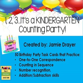 Basic Counting Task Cards: One to One Correspondance & Num