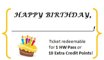 Birthday Tickets