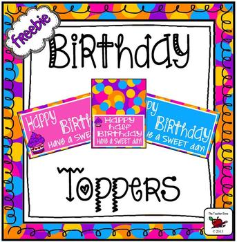 Birthday Toppers Freebie