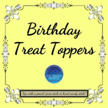 Birthday Treat Toppers