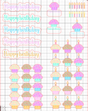 Birthday Treats Planner Stickers