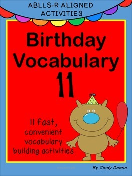 ABLLS-R ALIGNED ACTIVITIES Birthday Vocabulary 11