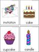 Birthday Writing Center Tools: Holidays and Celebration Words