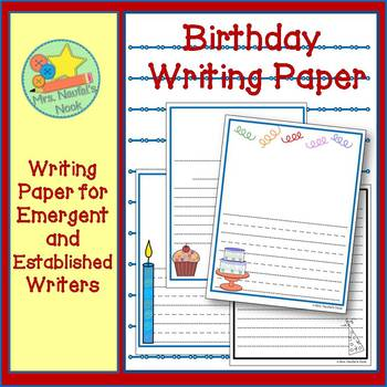 Birthday Writing Paper for Emergent & Established Writers