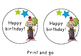 Birthday toppers - editable