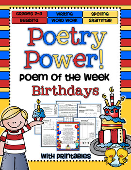 Birthdays Poetry Power! Daily Literacy Practice