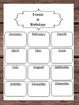 Birthdays Events Holidays Month Calendar Halloween Thanksg