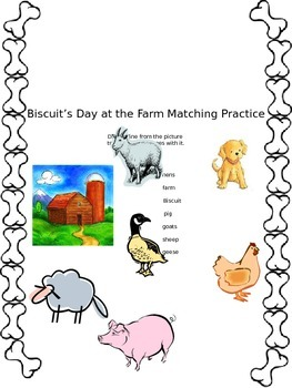 Biscuit's Day at the Farm Matching Activity