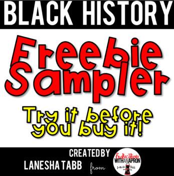 Black History Printables Free Sampler by LaNesha Tabb-Education With an Apron