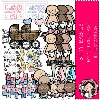 Melonheadz: Bitty Babies clip art - COMBO PACK