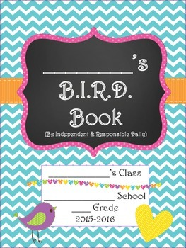 Bitty Birdies Student Planner 2015-2016 B.I.R.D. Book