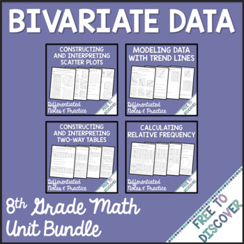 Bivariate Data - Unit 8 Bundle