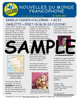 Biweekly news summaries for French students: March 12, 2017
