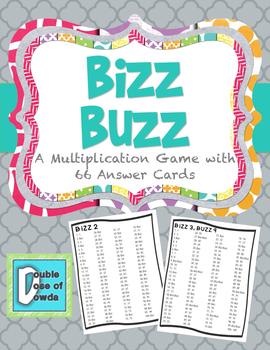 Multiplication Game Bizz Buzz