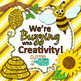 Bizzy Bees Clip Art {Scrapbook Paper, Frames, & Page Borde
