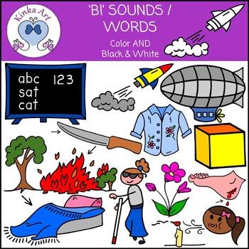 Bl Sounds / Words: Beginning Sounds Clip Art