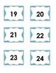 Black & Aqua Calendar Numbers