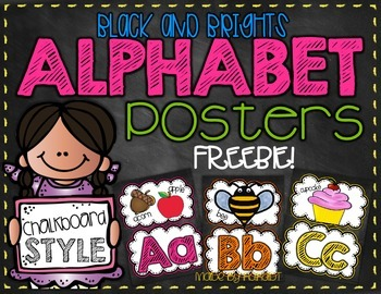 Black & Brights Chalkboard Alphabet FREEBIE!