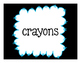 Black & Brights Labels! Set of 25 for Class Supplies & Binders!