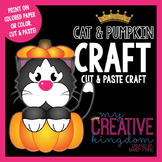 Black Cat and Pumpkin Autumn Craft