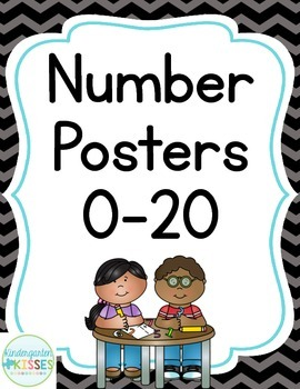 Black Chevron Number Posters