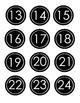 Black Circle Class Numbers 1-31- EDITABLE