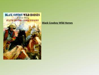 Black Cowboy Wild Horses Text Talk