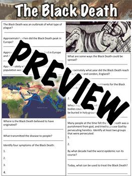 Black Death Worksheet
