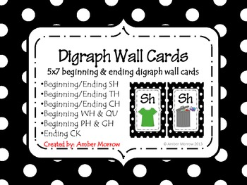 Black Digraph Wall Cards
