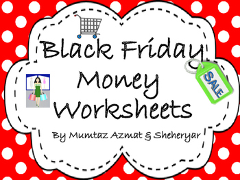 Black Friday Sale Themed Money Worksheets: