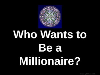 Black History 1915-1945-  Who wants to be a millionaire Review