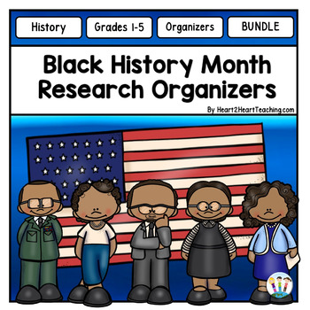 Black History Month Organizers Bundle for Guided Research (30)
