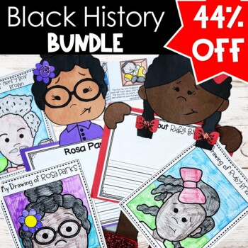 Black History Activity Bundle Rosa Parks, Ruby Bridges, ML