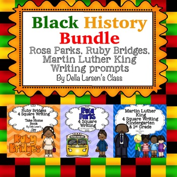 Black History BUNDLE Rosa Parks, Ruby Bridges, Martin Luth